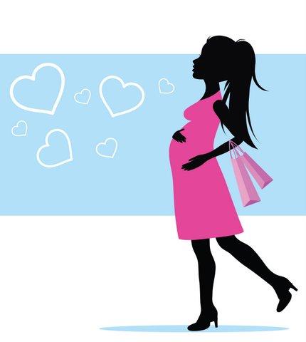 pregnant shopping