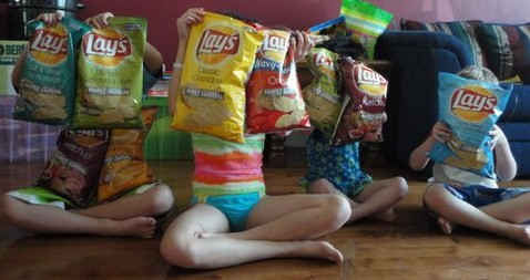 Kids with Lay's GF