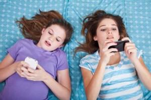 Girls texting