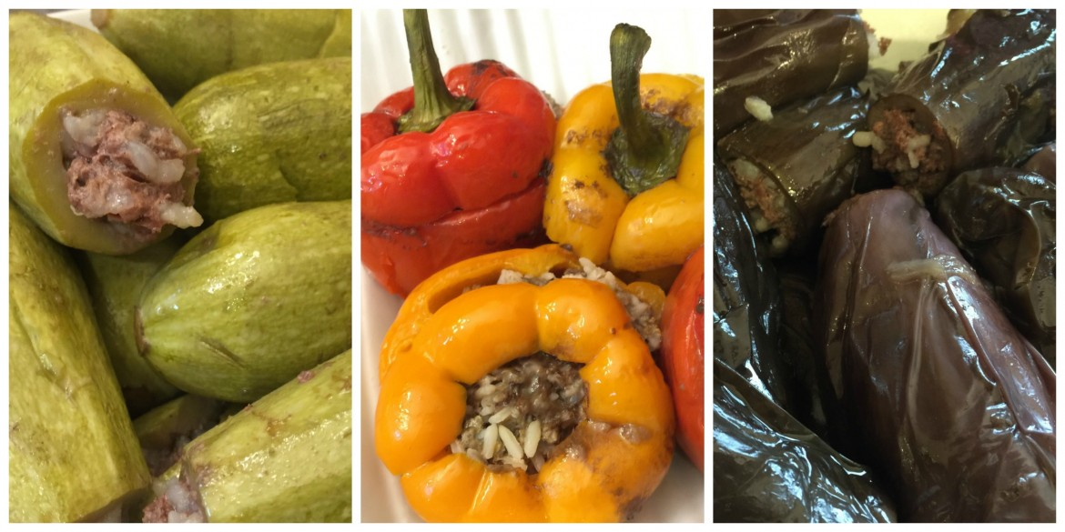 Stuffed Veggies Collage