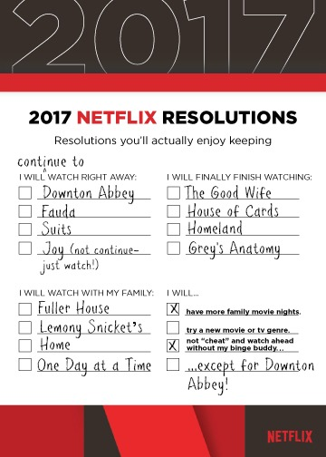 Netflix Resolutions 2017