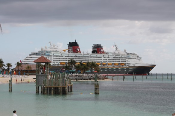Disney Wonder, docked at Disney's Private Island Castaway Cay (Bahamas)