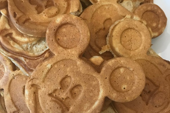 waffles made using a Mickey waffle iron :)