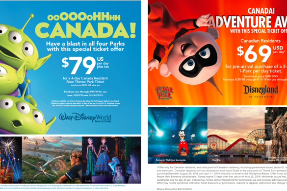 WDW Canadian offer