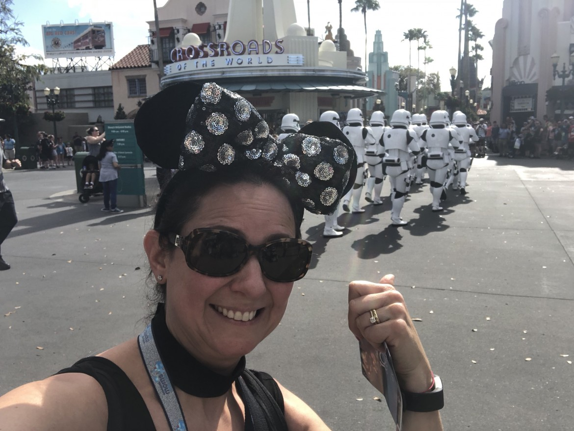 Sporting my ears as the stormtroopers pass by at Disney's Hollywood Studios