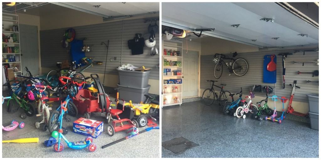 Project Prganize Before & After garage